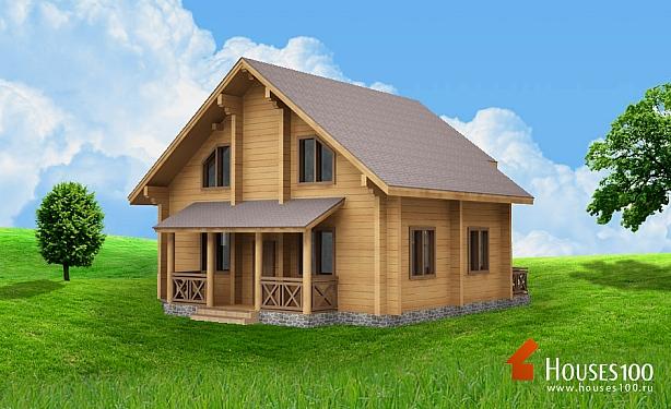 Проекты и строительство деревянных домов из бруса и бревна