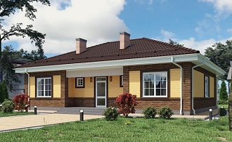 Проекты одноэтажных домов Проекты домов и коттеджей в Москве